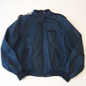 Vintage Members Only Blue Bomber Jacket